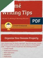 How To Write A Resume/CV - Resume Writing Tips