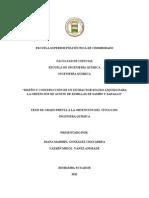 DISEÑO Y CONSTRUCCIÓN DE UN EXTRACTOR SÓLIDO-LÍQUIDO PARA