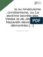 Vedanta Hindouisme Christianisme