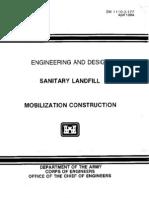 EM 1110-3-177 - Sanitary Landfill - Mobilization Construction-Web