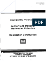 EM 1110-3-174 - Sanitary and Industrial Waste Water Collection - Mobilization Construction -Web