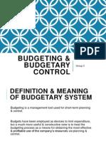 Budgeting & Budgetary Control