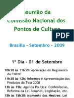 Reunião Comissão Nacional - Setembro de 2009