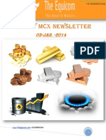 Daily MCX Commodity Updates By Theequicom 3-January