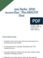 SAPM Goldman Sachs Final