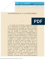 Lo Intelectual y Lo Inteligible