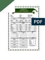 Ashringa Character Sheets