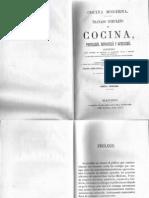 [Apicius] Cocina Moderna - Tratado Completo de Cocina, Pasteleria, Reposteria y Bolleria. Anonimo 1880