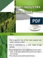 Tea Export Industry In Sri Lanka