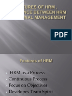 Features of Hrm , Difference Between Hrm