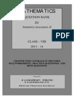 830795389class Viii Question Bank for Sa-II 2013-14