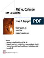 Six Sigma Metrics, Confusion & Resolutions - Breyfogle