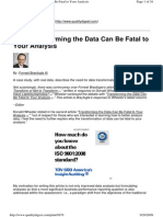 Non-Normal Data Not Transforming the Data Can Be Fatal to Your Analysis - Breyfogle