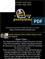 1st Quarter 2014 Lesson 1 Powerpoint Show
