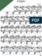 piano studio dei 24 preludi di chopin