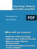 Bc4eBrainstorming Basics