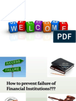 How to Prevent Failure of Financial Institutions