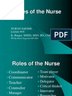 Lect17 Roles of the RN