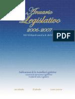 Anuario Legislativo 2006-2007
