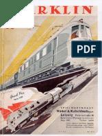 Maerklin Katalog 1938 De