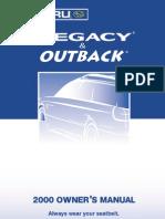 Owner*s manual Subaru Legacy