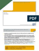 Availability Precalc Service With 720 GUI CD1