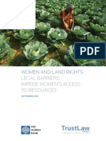Women and Land Rights. LEGAL BARRIERS IMPEDE WOMEN'S ACCESS TO RESOURCES