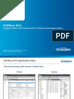 CADWorx 2013 Sneak Peek 3 of 3 Catalog and Specification Explorer