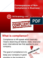 Consequences of Non-Compliance in Business