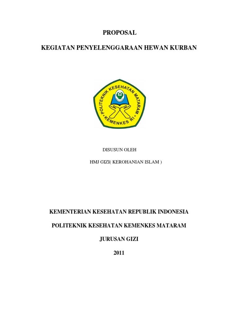 Proposal Penyelenggaraan Hewan Qurban