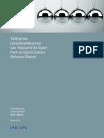 Siyasi Parti ve Seçim Sistemi Reformu Önerisi