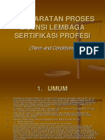 BNSP Present PersyaratanProsesLisensiLSP
