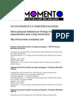 Rodrigo Maciel - Os Dicionários e a Homossexualidade