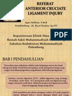 Referat Acl Injury