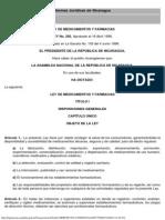 Ley de Medicamentos y Farmacias - Ley No 292