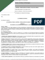 LEY ESPECIAL PARA EL CONTROL Y REGULACIÓN DE CASINOS Y SALAS DE JUEGOS