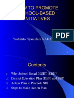 How to promote school-based initiatives