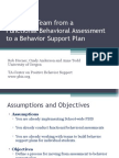 3_FunctionalBehAnal to Behavioral Support Plans
