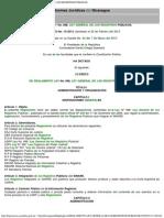 REGLAMENTO  LEY GENERAL DE LOS REGISTROS PÚBLICOS - LEY No. 698