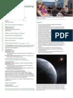Astrophysics at St Andrews University 2014 Entry