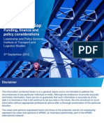 Infrastructure - Funding, Finance & Policy Considerations
