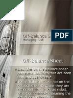 Off-Balance Sheet - Risk Management