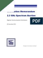 2.3GHz Auction Information Memorandum