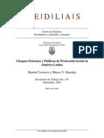 Choques Externos y Proteccion Social en Aca Latina