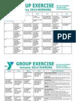JANUARY 2014 Group Exercise Calendar