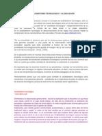EL ANALFABETISMO TECNOLÓGICO Y LA EDUCACIÓN