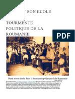 Gusti Et Son Ecole Dans La Tourmente Politique de La Roumanie