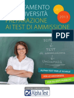Vale - Universita - Alpha Test - Brochure