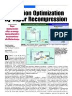 Distillation Optimization-Vapor Recompression