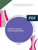 Recommandation Pro Rage Chapes Dalles Sur Plancher Bois Neuf 2013 07